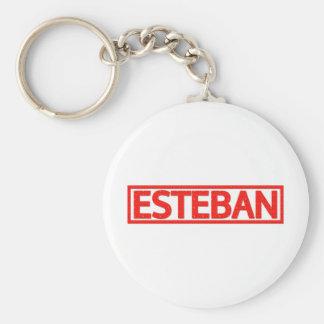 Sello de Esteban Llavero Redondo Tipo Pin
