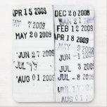 Sello de fecha de la biblioteca Mousepad Tapetes De Ratón