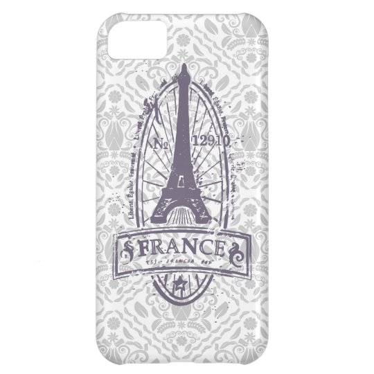 Sello de Francia, arte francés en el iPhone gris 5 Carcasa Para iPhone 5C