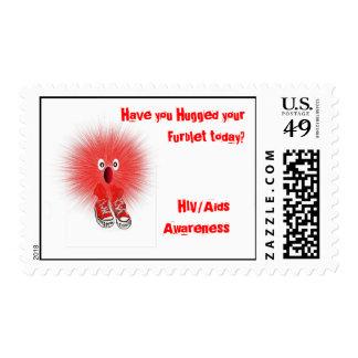 Sello de Furblet de la conciencia de HIV/Aids