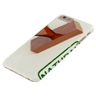 Sello de goma produciendo la palabra natural funda de iPhone 6 plus barely there