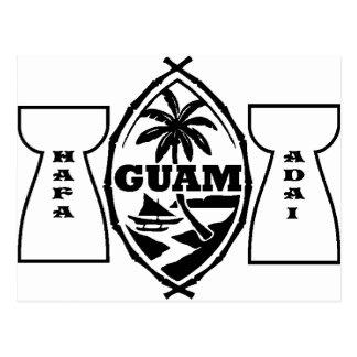 Sello de Guam con las piedras del latte Tarjeta Postal