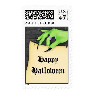 Sello de Halloween de la mano de la bruja