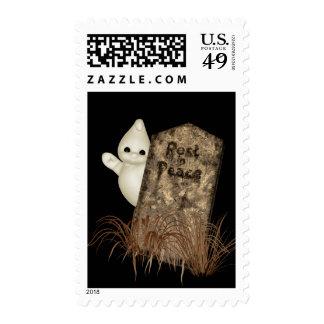 Sello de Halloween de la piedra sepulcral del fant