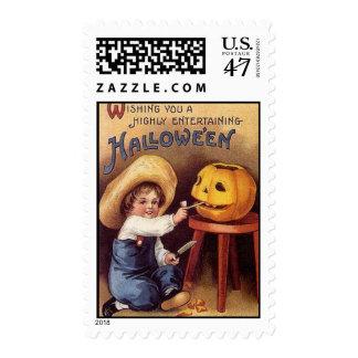 Sello de Halloween del vintage del KRW