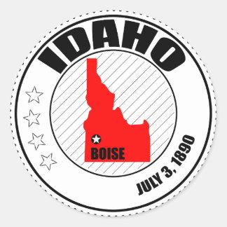 Sello de Idaho Pegatina Redonda