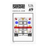Sello de la ambulancia de los servicios médicos de