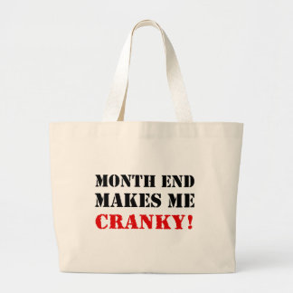 Sello de la aprobación del fin de mes el bolsa de tela grande