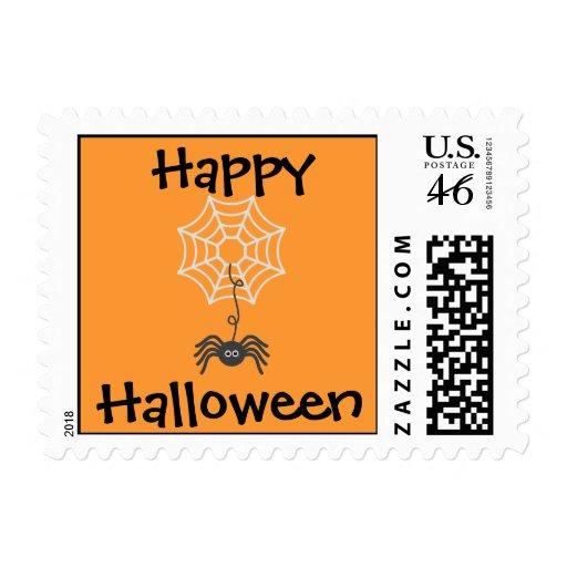 Sello de la araña del feliz Halloween