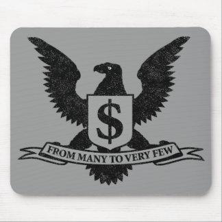 Sello de la avaricia de Wall Street Mouse Pad