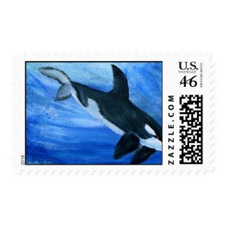 Sello de la ballena de la orca
