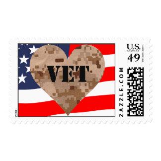 Sello de la bandera de los veteranos del camuflaje