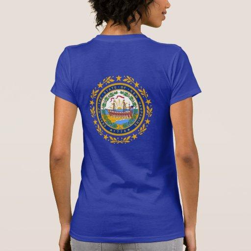 Sello de la bandera de New Hampshire Camisetas
