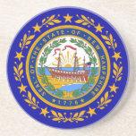 Sello de la bandera de New Hampshire Posavasos Personalizados