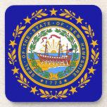 Sello de la bandera de New Hampshire Posavasos De Bebida