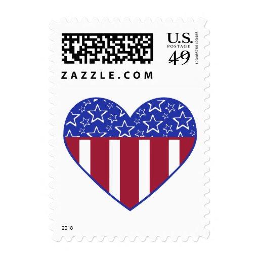 Sello de la bandera del corazón de los E.E.U.U.