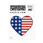 Sello de la bandera del corazón de los E.E.U.U. pe