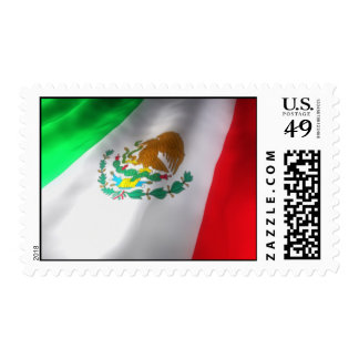 Sello de la bandera mexicana que agita