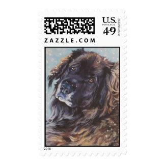 Sello de la bella arte de Leonberger