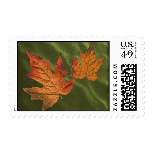 sello de la caída con 2 hojas