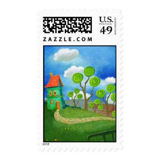 sello de la casa del dibujo animado