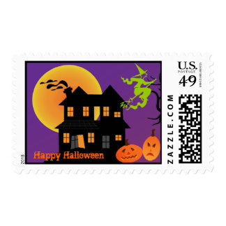 Sello de la casa encantada de Halloween
