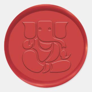 Sello de la cera de la muestra de Ganesha Pegatinas