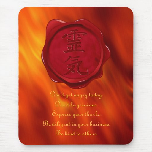sello de la cera - REIKI y ondas del rojo del Alfombrilla De Ratón