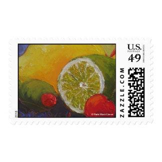 Sello de la cereza de la cal del limón