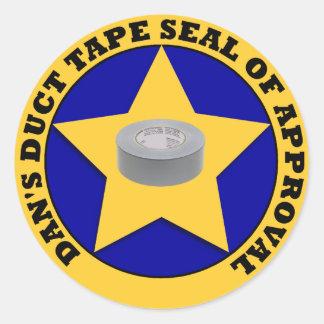 Sello de la cinta aislante de la aprobación pegatina redonda