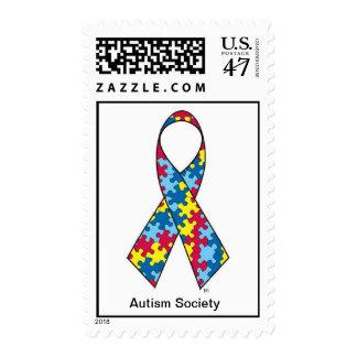 Sello de la cinta del autismo