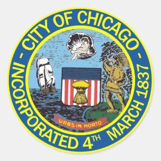 Sello de la ciudad de Chicago Etiqueta