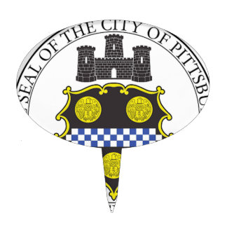 Sello de la ciudad de Pittsburgh Figura Para Tarta