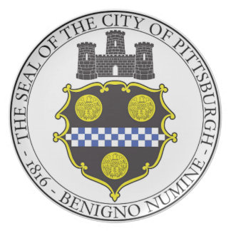 Sello de la ciudad de Pittsburgh Plato Para Fiesta