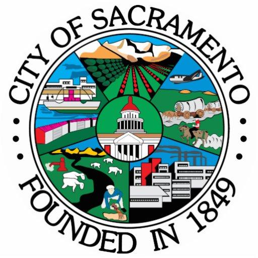 Sello de la ciudad de Sacramento Esculturas Fotograficas