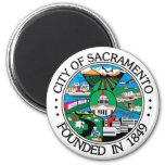 Sello de la ciudad de Sacramento Imanes De Nevera
