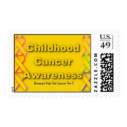 Sello de la conciencia del cáncer de la niñez
