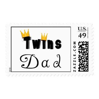 Sello de la corona del doble del papá de los gemel