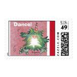 Sello de la danza del kiwi del dibujo animado del