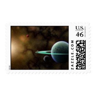 sello de la escena del espacio 3d