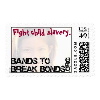 Sello de la esclavitud del niño de la lucha