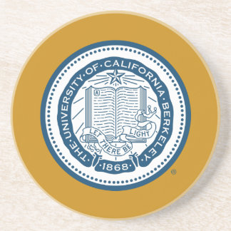 Sello de la escuela de Uc Berkeley - azul Posavasos De Arenisca