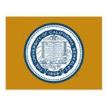 Sello de la escuela de Uc Berkeley - azul Tarjetas Postales