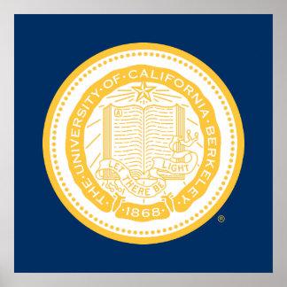Sello de la escuela de Uc Berkeley - oro Impresiones