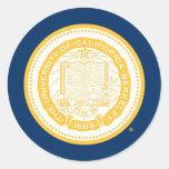 Sello de la escuela de Uc Berkeley - oro Etiquetas Redondas