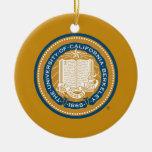 Sello de la escuela de Uc Berkeley - oro y azul Ornamento De Navidad