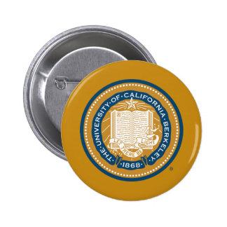 Sello de la escuela de Uc Berkeley - oro y azul Pin Redondo 5 Cm