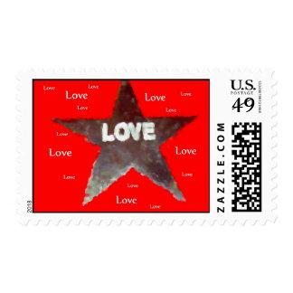 Sello de la estrella del amor