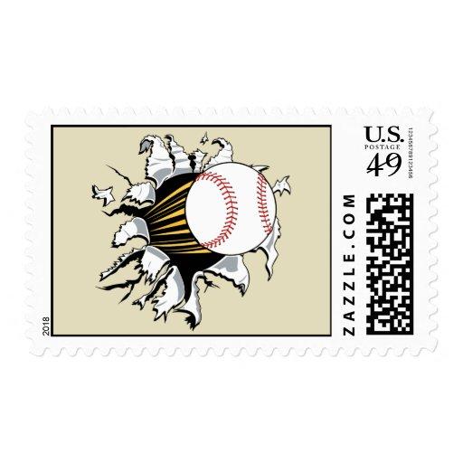 Sello de la explosión del béisbol