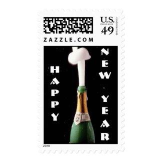 sello de la Feliz Año Nuevo